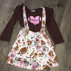 Adorable boutique football outfit